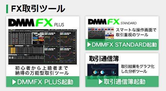 DMMFXの取引ツールの種類